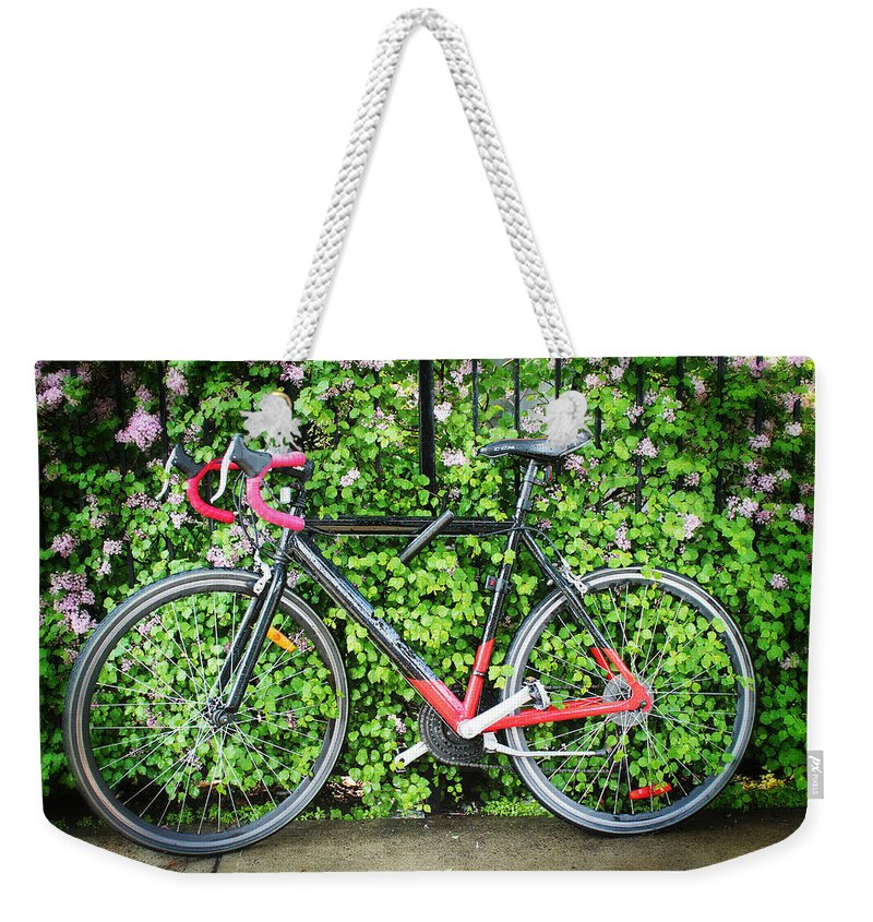 Bicycle Weekender Tote Bag featuring the photograph Built For Speed I by Carlos Diaz