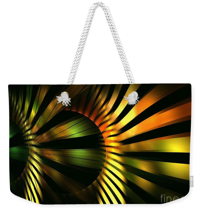 Apophysis Weekender Tote Bag featuring the digital art Bulb by Kim Sy Ok