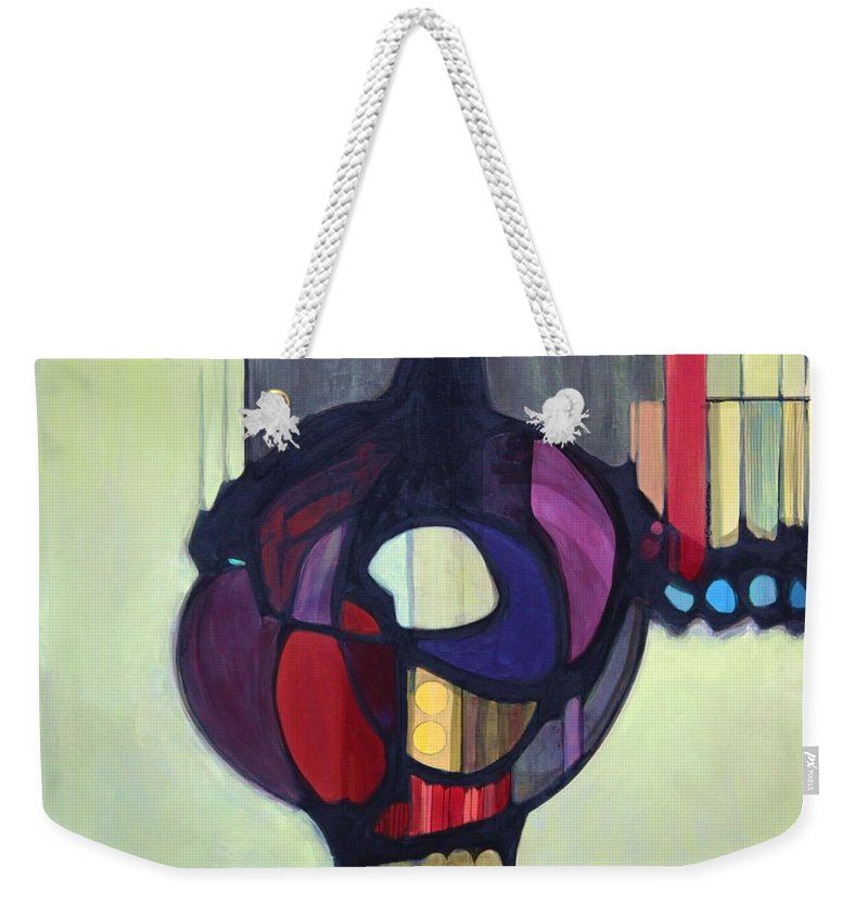Bold Color Weekender Tote Bag featuring the painting Bulbosity by Marlene Burns