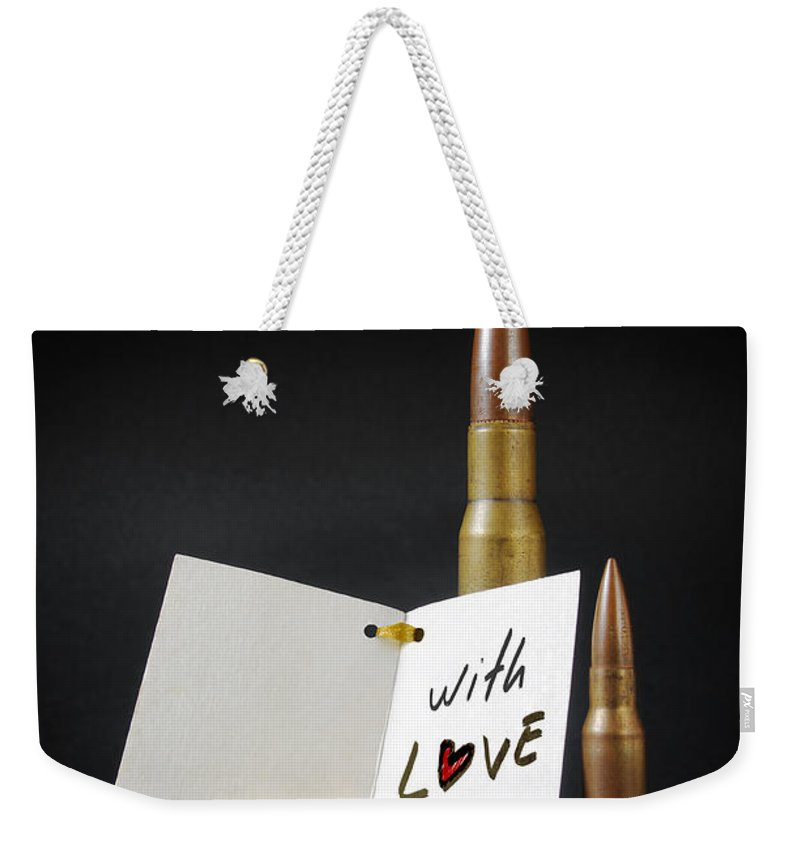 Ammo Weekender Tote Bag featuring the photograph Bullets For You by Carlos Caetano