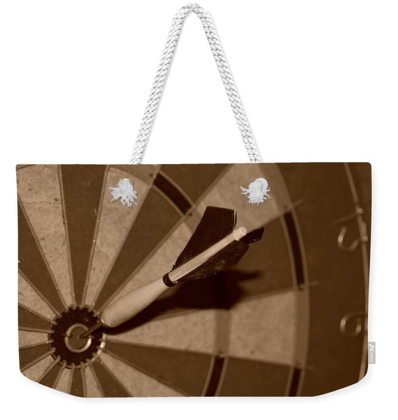 Macro Weekender Tote Bag featuring the photograph Bullseye Baby by Rob Hans