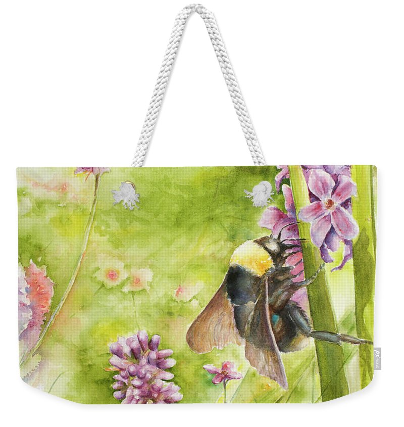 Landscape Weekender Tote Bag featuring the painting Bumble by Arthur Fix