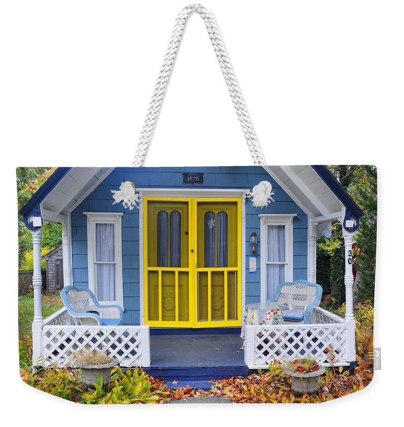 Marthas Vineyard Weekender Tote Bag featuring the photograph Bungalow At Marthas Vineyard by Dave Mills