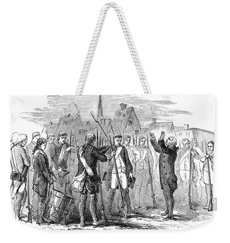 1775 Weekender Tote Bag featuring the photograph Bunker Hill, 1775 by Granger