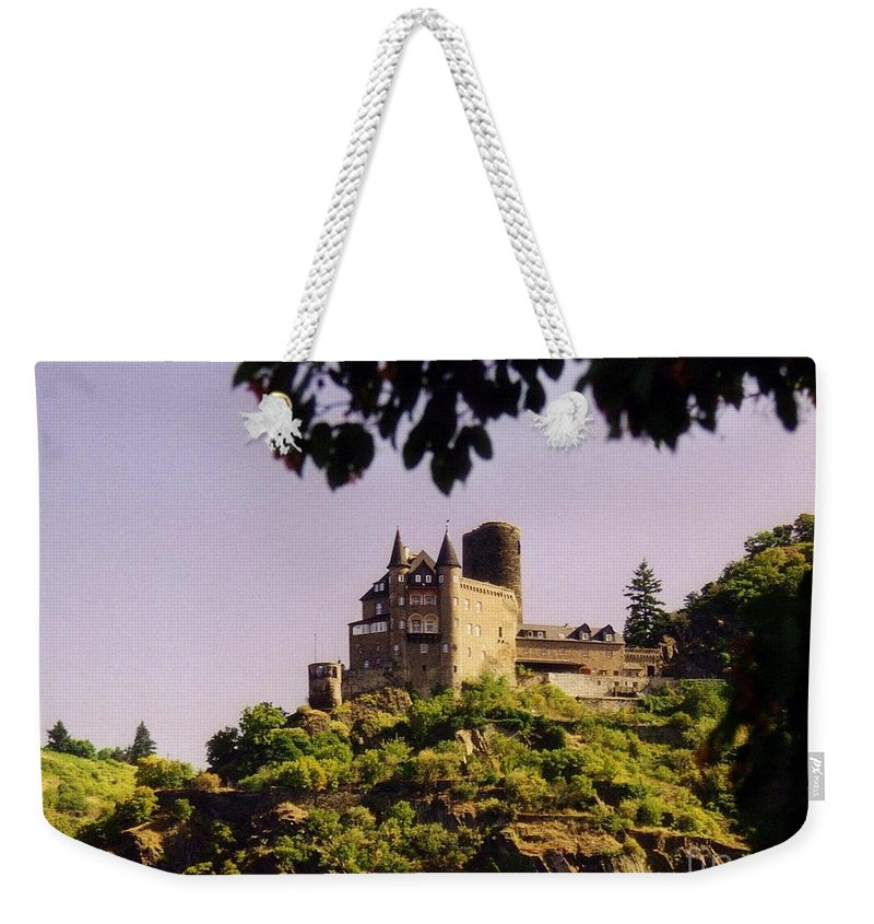 Castle Weekender Tote Bag featuring the photograph Burg Katze Castle On The Rhine by John Malone