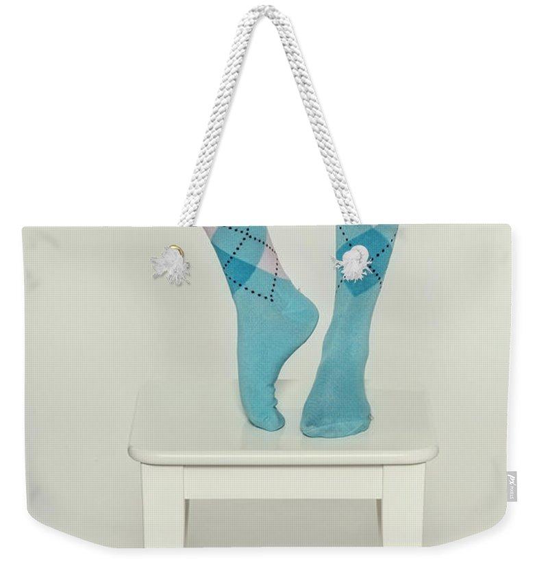 Woman Weekender Tote Bag featuring the photograph Burlington Socks by Joana Kruse