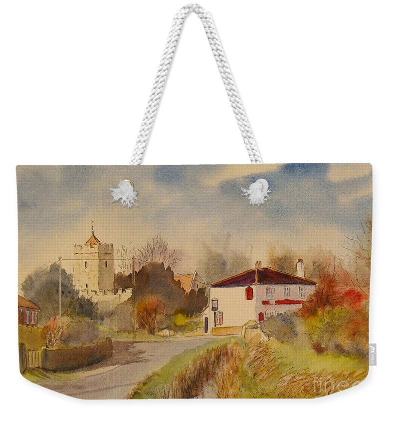 Burmarsh Weekender Tote Bag featuring the painting Burmarsh Kent Uk by Beatrice Cloake
