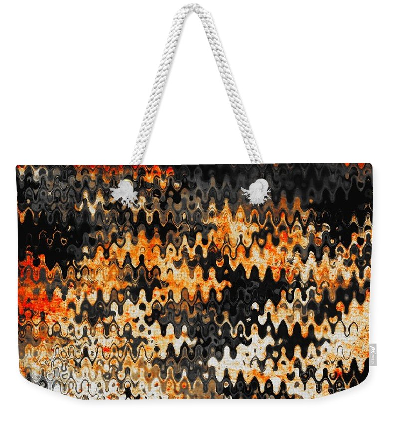 Abstract Weekender Tote Bag featuring the photograph Burning Embers by Anita Lewis