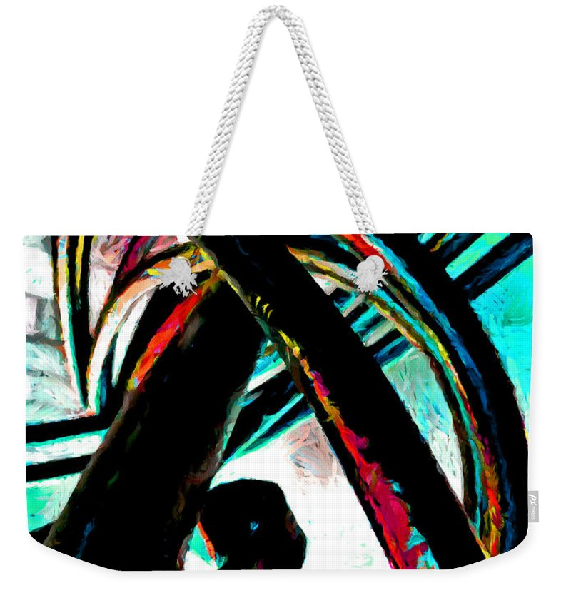Curl Weekender Tote Bag featuring the digital art Burning Iron by Steve Taylor