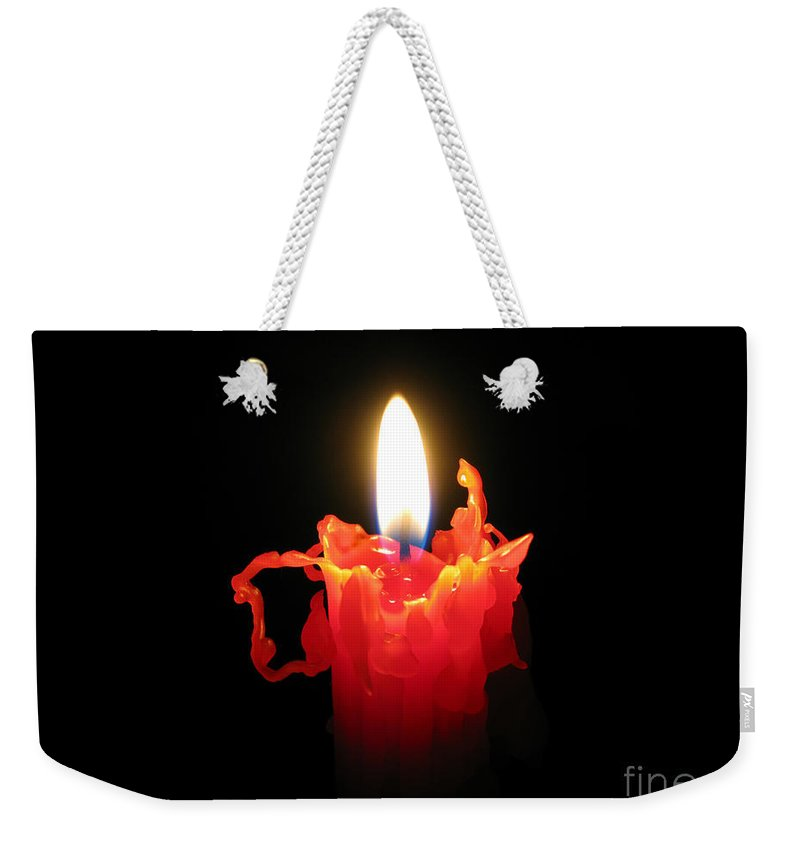 Candle Weekender Tote Bag featuring the photograph Burnout by Ann Horn