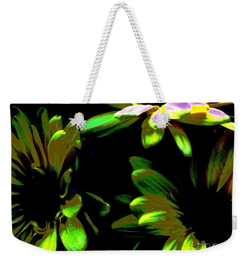 Art For The Wall...patzer Photography Weekender Tote Bag featuring the photograph Burst by Greg Patzer