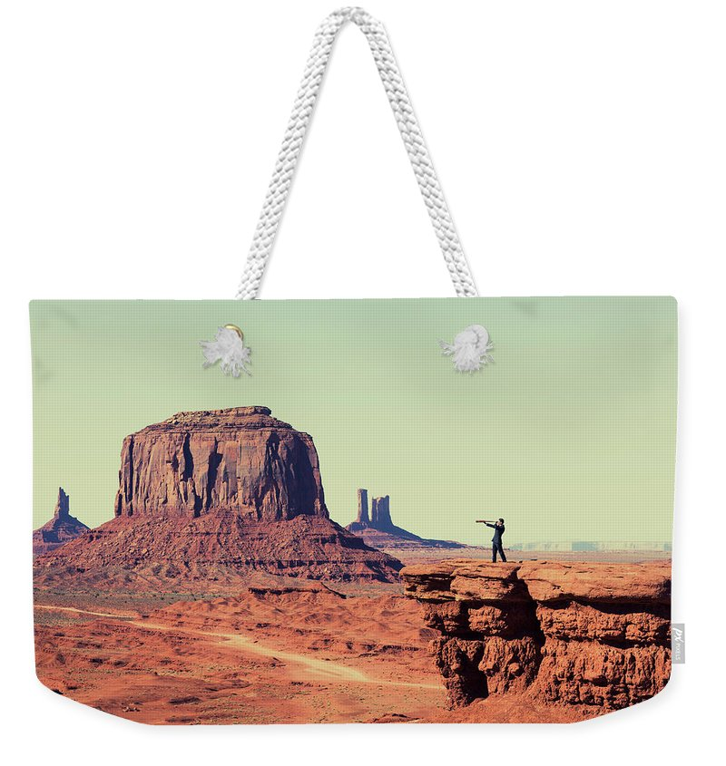 Corporate Business Weekender Tote Bag featuring the photograph Business Vision by Richvintage