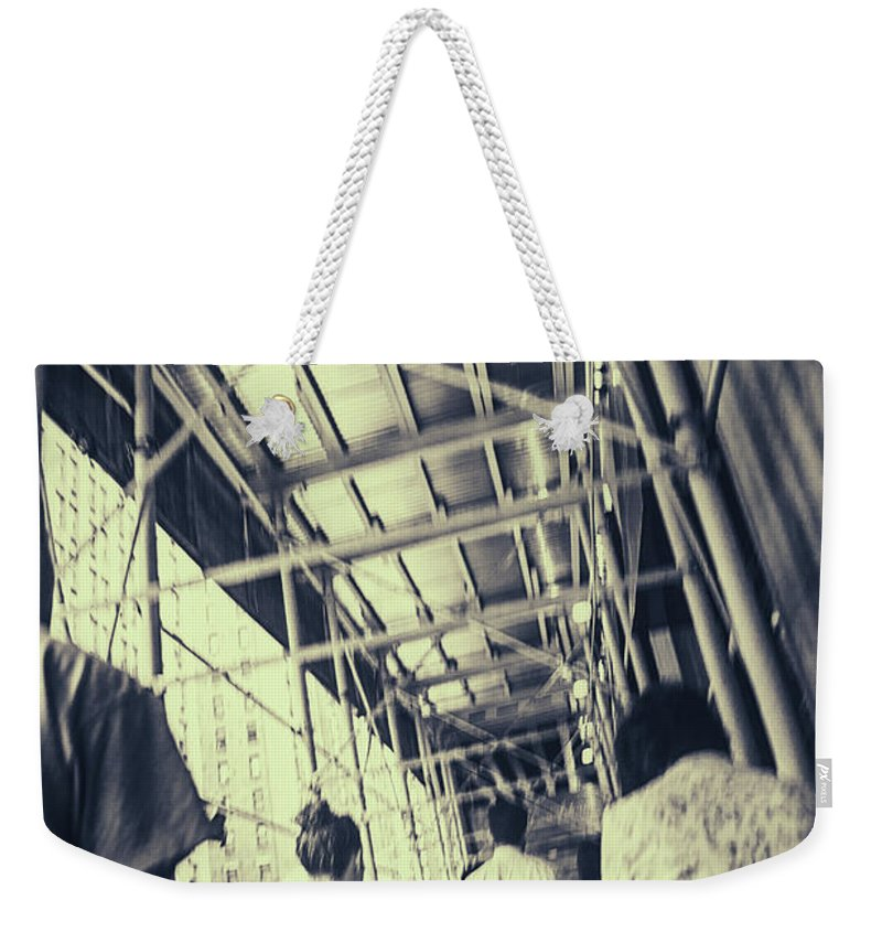 Busy Weekender Tote Bag featuring the photograph Busy Sidewalks by Karol Livote