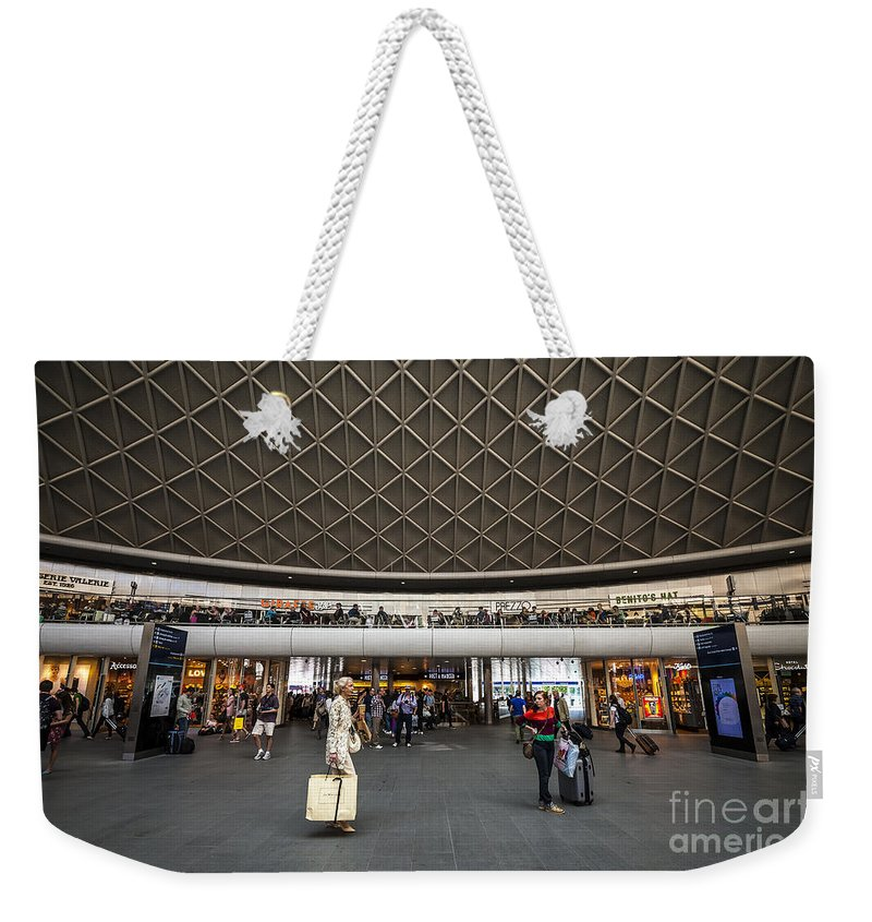 Abstract Weekender Tote Bag featuring the photograph Busy Station by Svetlana Sewell