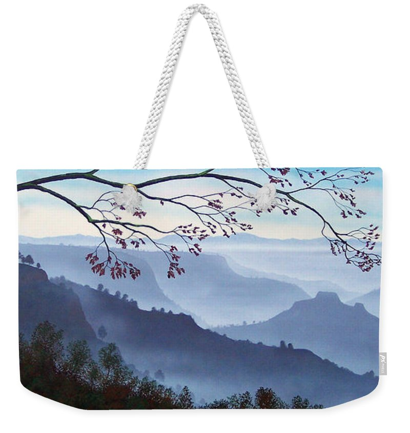 Mural Weekender Tote Bag featuring the painting Butte Creek Canyon Mural by Frank Wilson