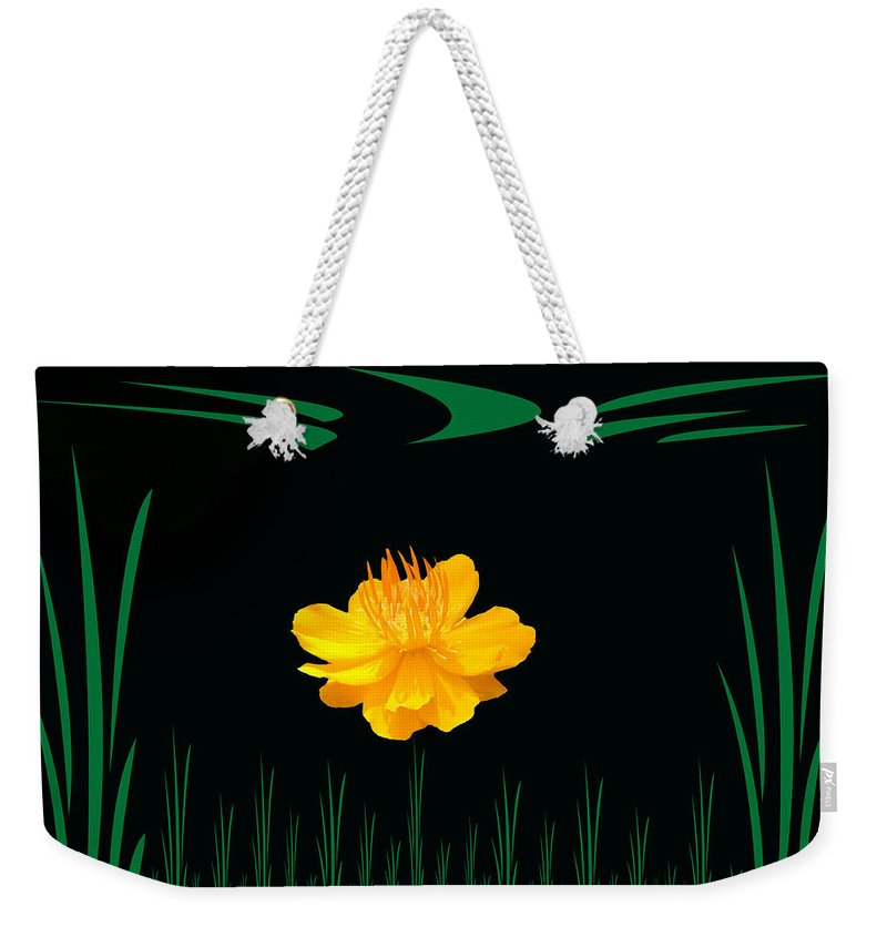 Yellow Flower Weekender Tote Bag featuring the photograph Buttercup Delight by Aimee L Maher ALM GALLERY