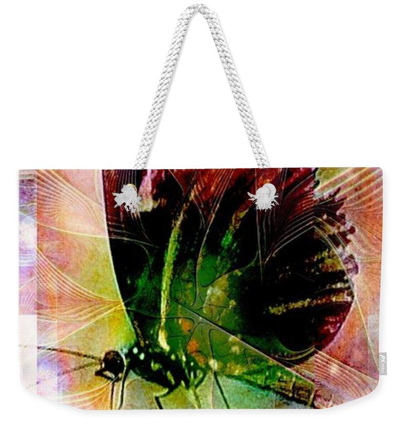 Digital Art Weekender Tote Bag featuring the digital art Butterfly 1 by Amanda Moore