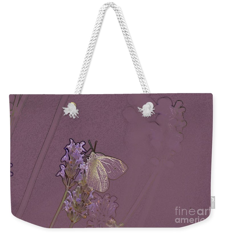Butterfly Weekender Tote Bag featuring the digital art Butterfly 1 by Carol Lynch