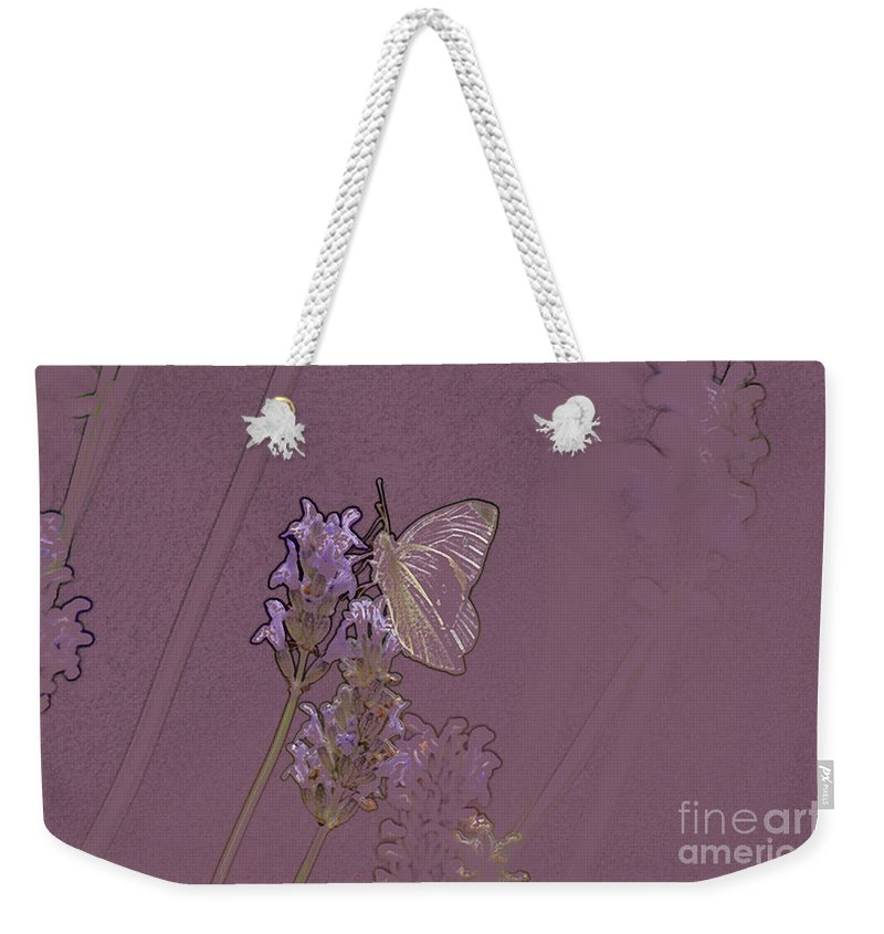 Butterfly Weekender Tote Bag featuring the digital art Butterfly 2 by Carol Lynch
