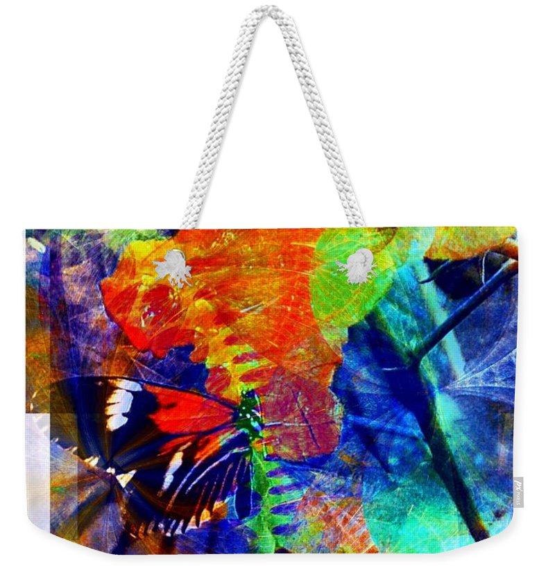 Digital Art Weekender Tote Bag featuring the digital art Butterfly 4 by Amanda Moore