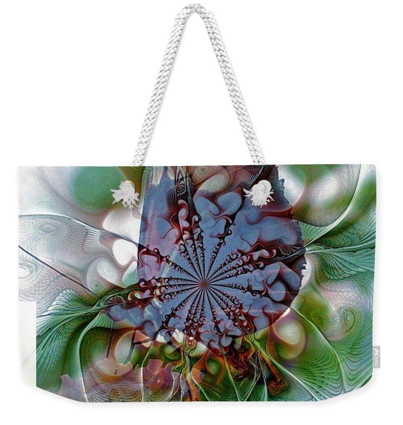 Digital Art Weekender Tote Bag featuring the digital art Butterfly 5 by Amanda Moore