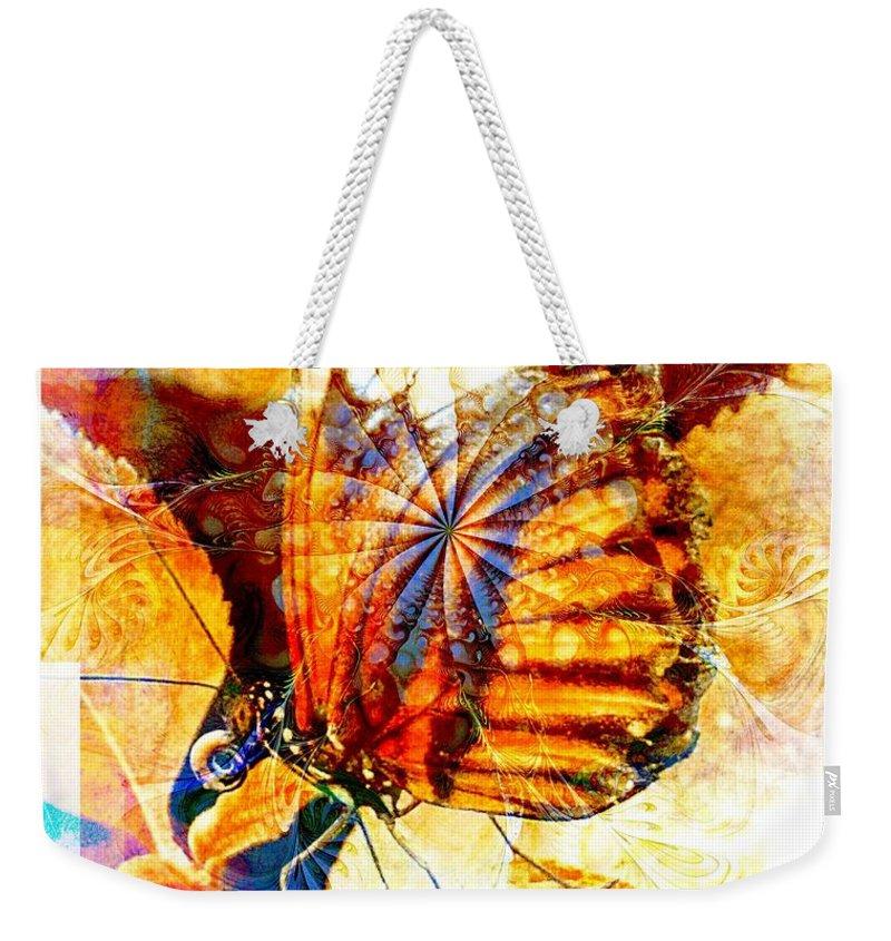 Digital Art Weekender Tote Bag featuring the digital art Butterfly 6 by Amanda Moore