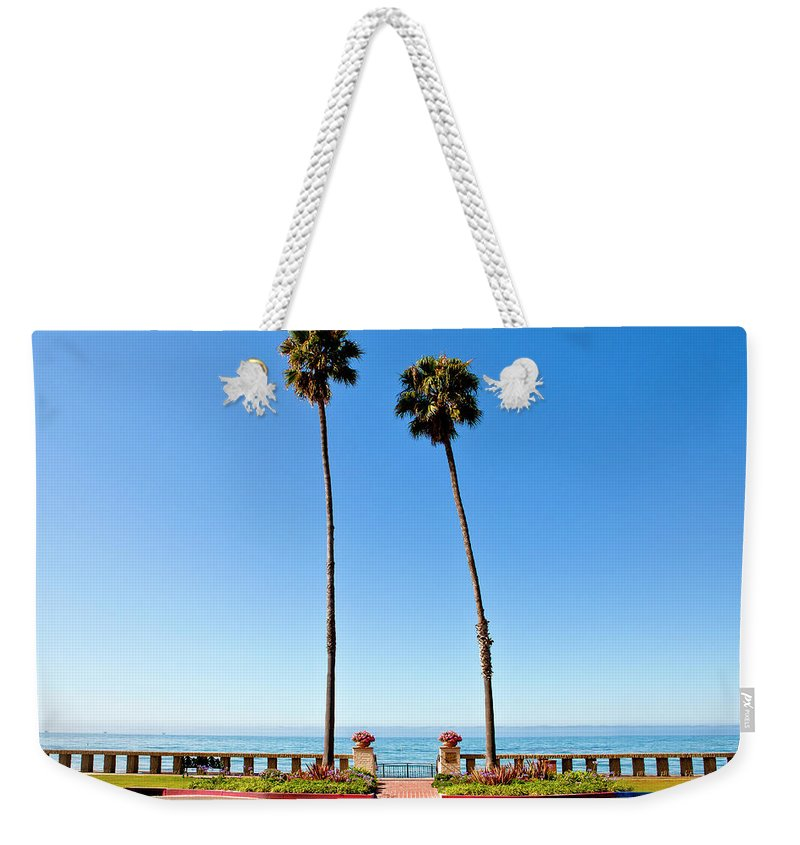Tranquility Weekender Tote Bag featuring the photograph Butterfly Beach, Santa Barbara by Geri Lavrov