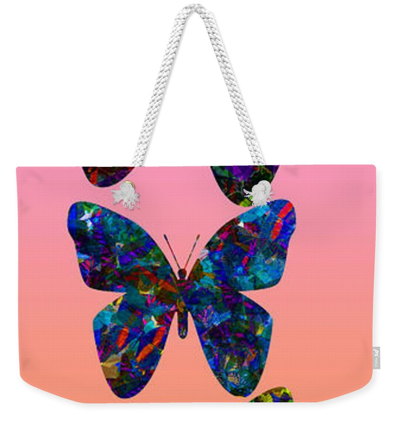 Butterfly Collage Weekender Tote Bag featuring the photograph Butterfly Collage IIII by Robert Meanor