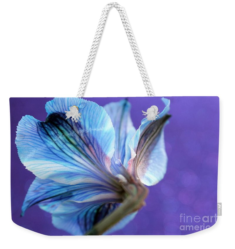 Flower Weekender Tote Bag featuring the photograph Butterfly Flower by Krissy Katsimbras