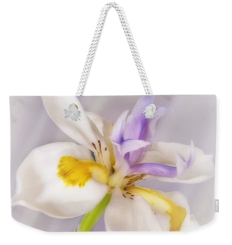 Bloom Weekender Tote Bag featuring the photograph Butterfly Iris by David and Carol Kelly