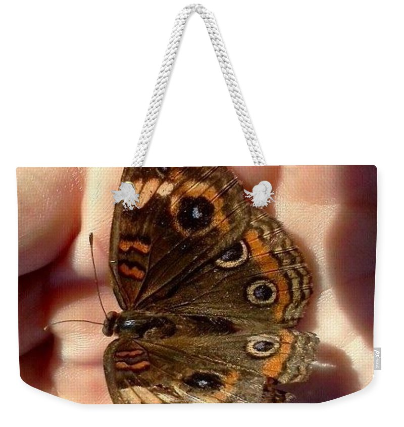 Beauty Weekender Tote Bag featuring the photograph Butterfly by Melissa Darnell Glowacki