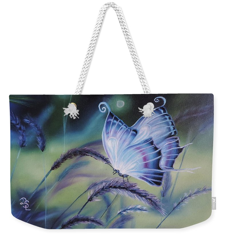 Wild Life Weekender Tote Bag featuring the painting Butterfly Series #3 by Dianna Lewis