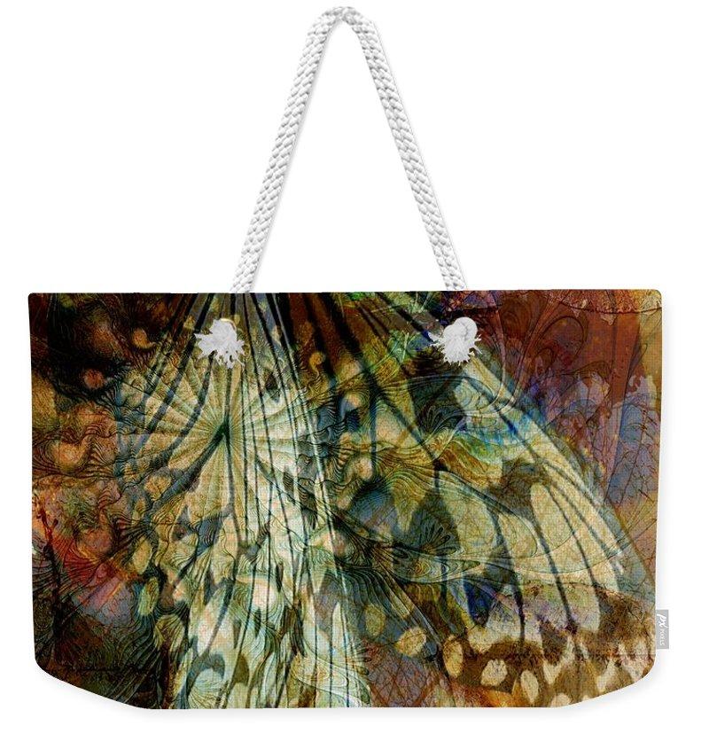 Digital Art Weekender Tote Bag featuring the digital art Butterfly Wings by Amanda Moore