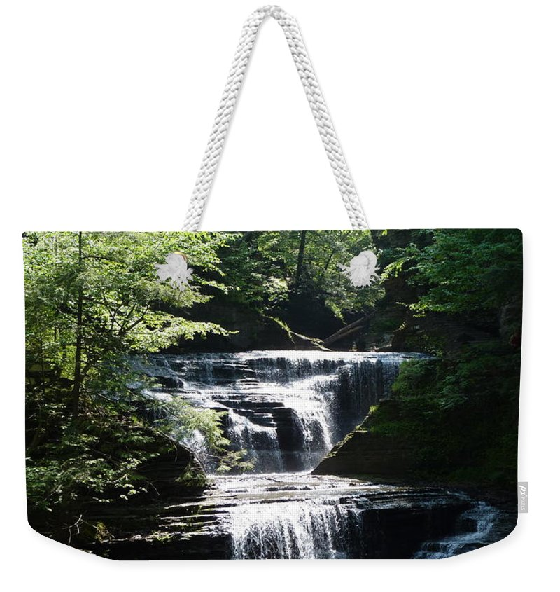 Weekender Tote Bag featuring the photograph Buttermilk Shimmer by Katerina Naumenko