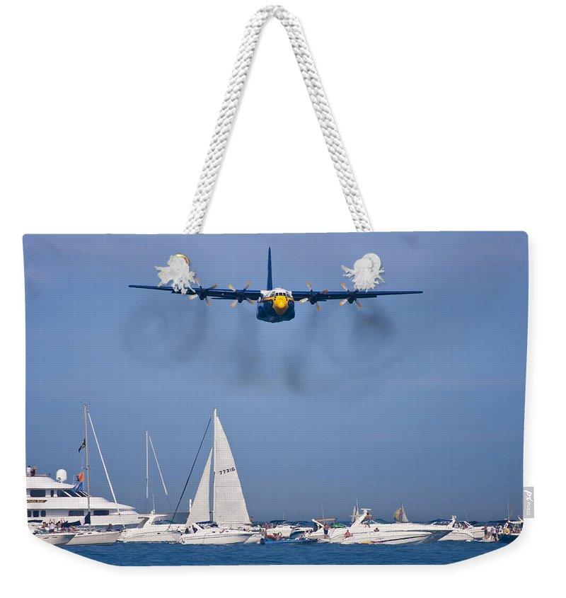3scape Photos Weekender Tote Bag featuring the photograph Buzzing The Crowd by Adam Romanowicz