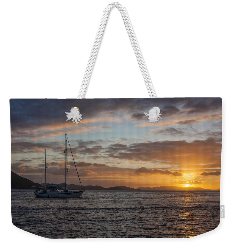 3scape Weekender Tote Bag featuring the photograph Bvi Sunset by Adam Romanowicz