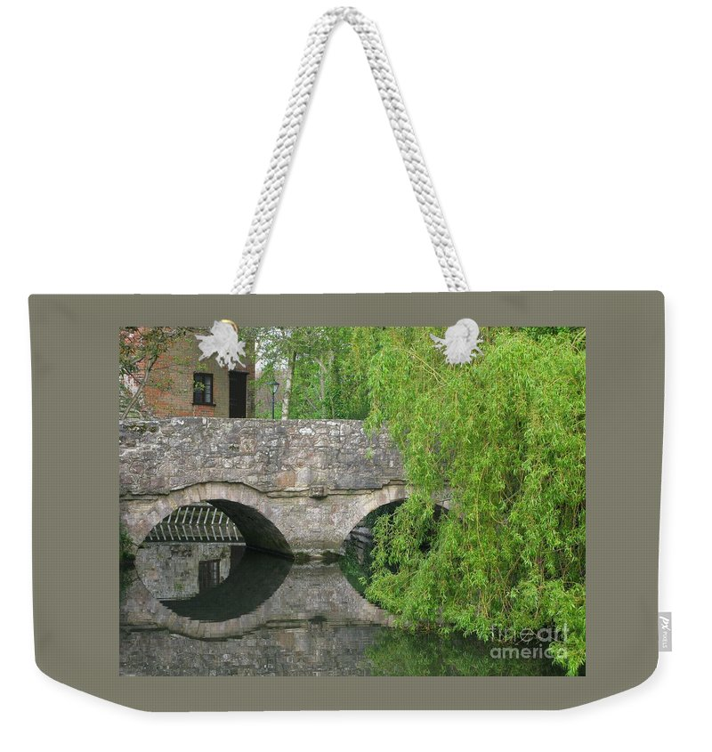 England Weekender Tote Bag featuring the photograph By The Old Mill Stream by Ann Horn