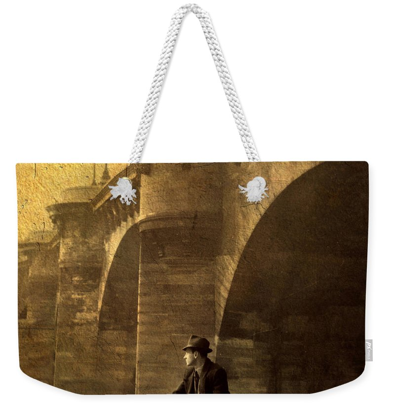 Paris Weekender Tote Bag featuring the photograph By The Seine by Jessica Jenney