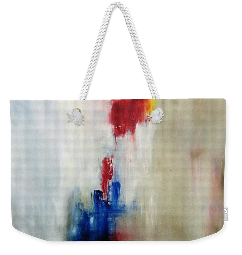 Abstract Painting Weekender Tote Bag featuring the painting C-15 by Jeff Barrett
