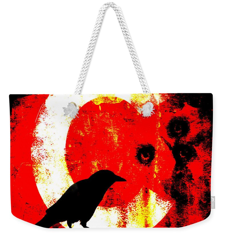 Crow Weekender Tote Bag featuring the photograph C Is For Crow by Carol Leigh