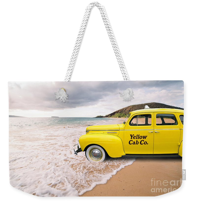 Hawaii Weekender Tote Bag featuring the photograph Cab Fare To Maui by Edward Fielding