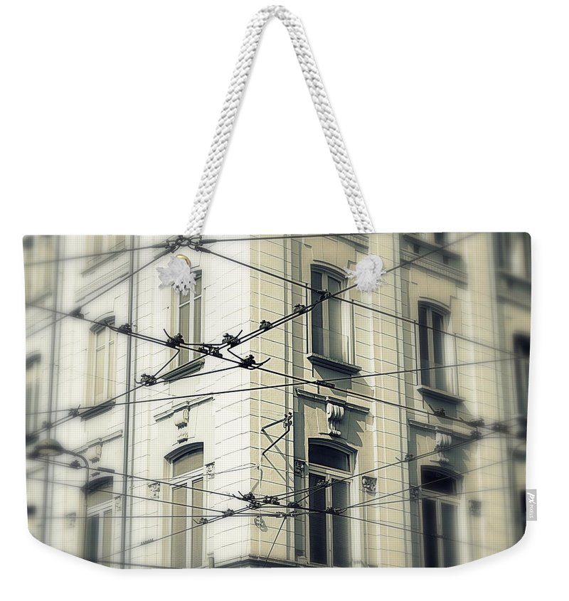 Cable Weekender Tote Bag featuring the photograph Cables by Valentino Visentini