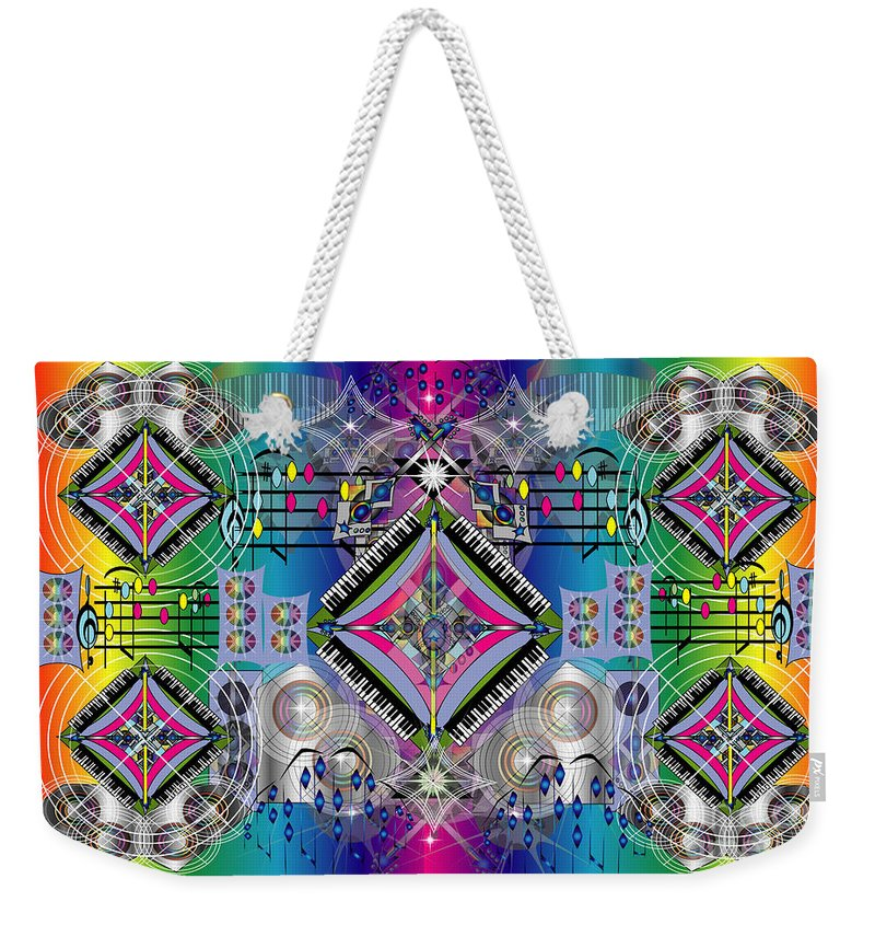 Music Weekender Tote Bag featuring the digital art Cacophony by George Pasini