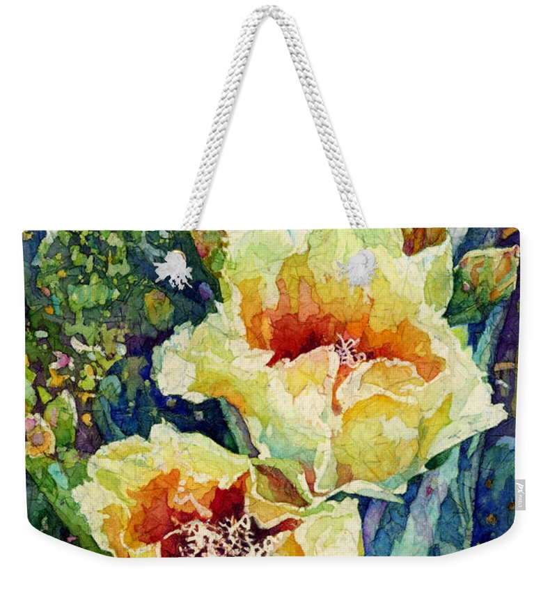 Cactus Weekender Tote Bag featuring the painting Cactus Splendor I by Hailey E Herrera