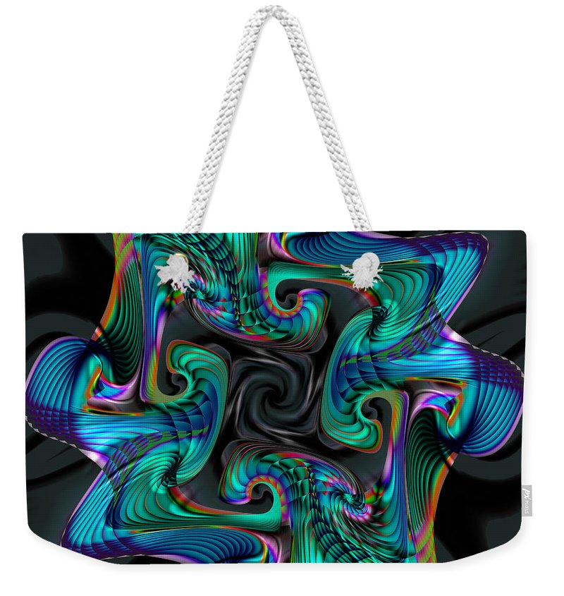 Cadenza Weekender Tote Bag featuring the digital art Cadenza by Kimberly Hansen