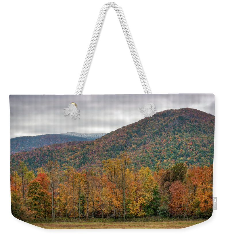 Scenics Weekender Tote Bag featuring the photograph Cades Cove, Great Smoky Mountains by Fotomonkee