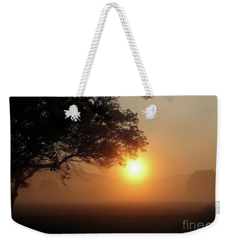 Trees Weekender Tote Bag featuring the photograph Cades Cove Sunrise by Douglas Stucky