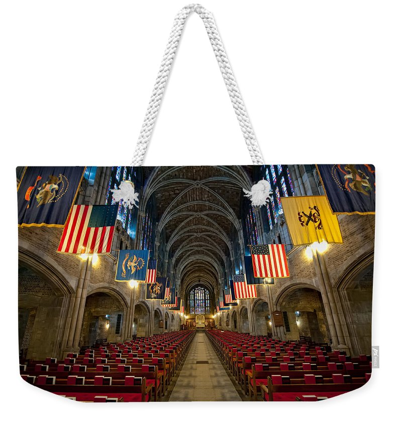 Usma Weekender Tote Bag featuring the photograph Cadet Chapel by Dan McManus