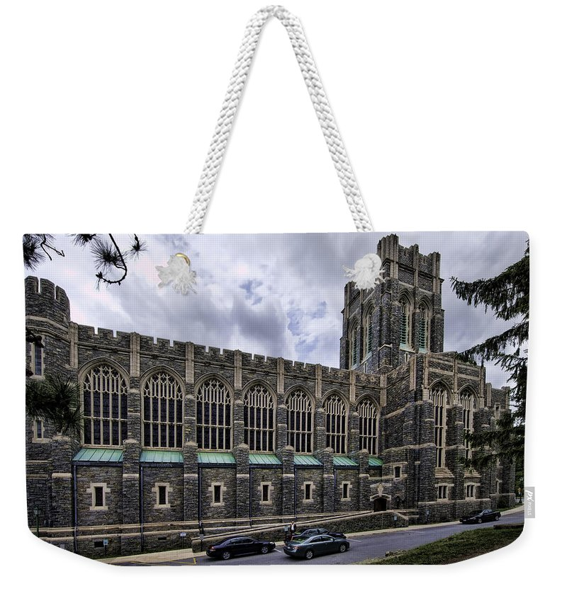 Usma Weekender Tote Bag featuring the photograph Cadet Chapel Exterior by Dan McManus
