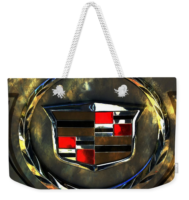 Cadillac Weekender Tote Bag featuring the photograph Cadillac Style by Deena Stoddard